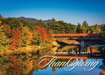 Mountain View Thanksgiving Greeting Cards