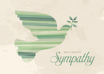 Spirited Dove Sympathy Greeting Card